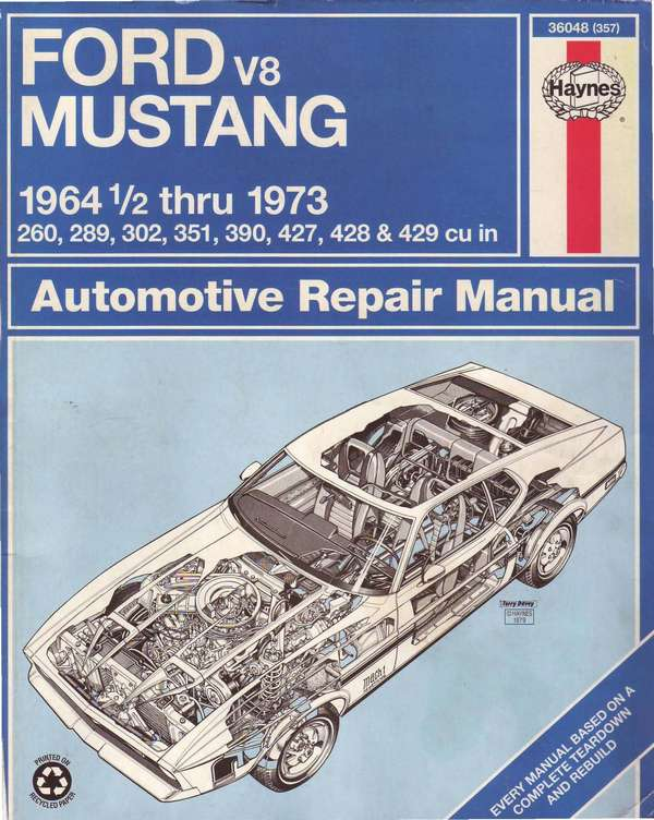 Ford Mustang 1964-1973. Haynes repair manual