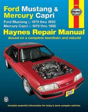 Ford Mustang 1979-1992. Haynes repair manual