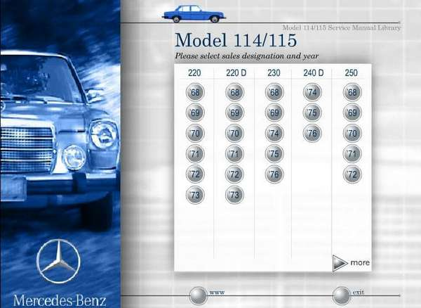 Mercedes 114, 115. Service Manual Library