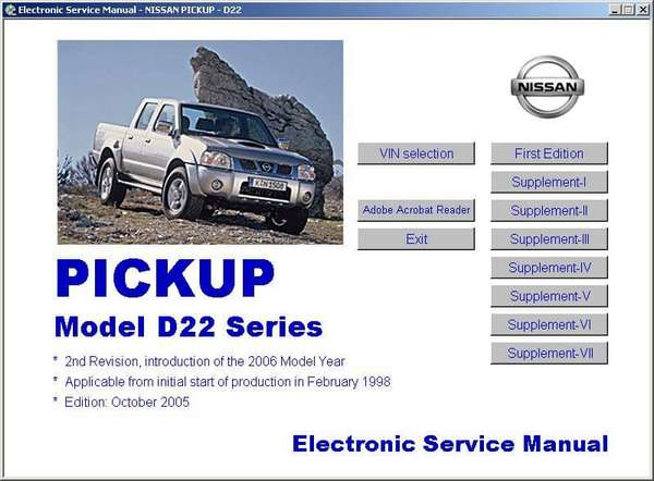 Nissan PickUp D22 1998-2003. Service Manual
