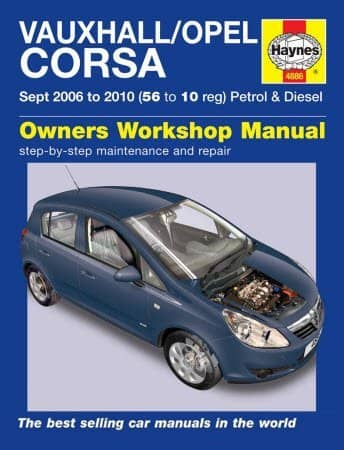 Opel Corsa, Vauxhall Corsa 2006-2010. Owners workshop manual