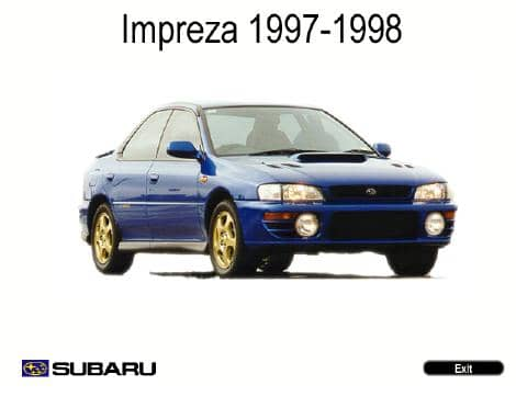 Subaru Impreza. 1997-1998. Workshop Manuals