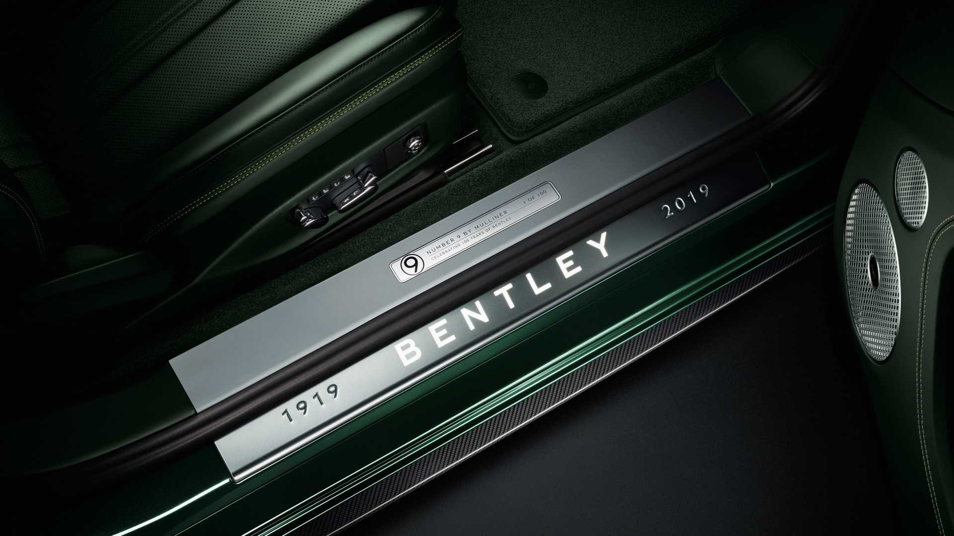 Bentley подготовил к юбилею Continental GT Number 9 Edition By Mulliner