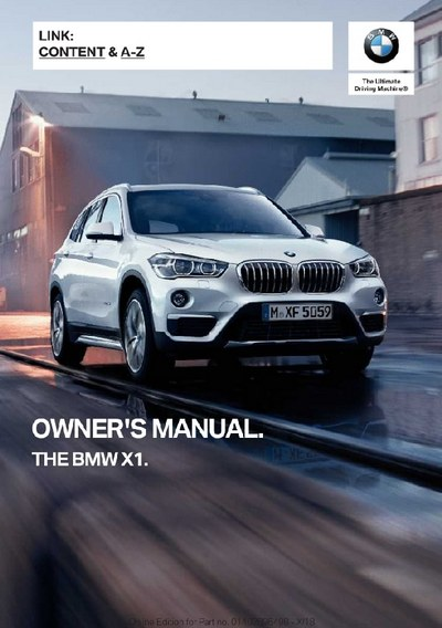 BMW X1 2019 MY. Owner's Manual