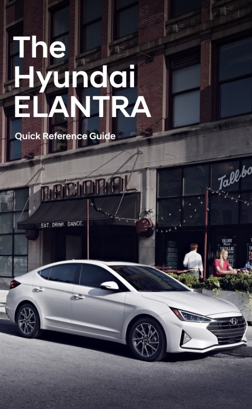 Hyundai Elantra 2019 MY. Quick Reference Guide
