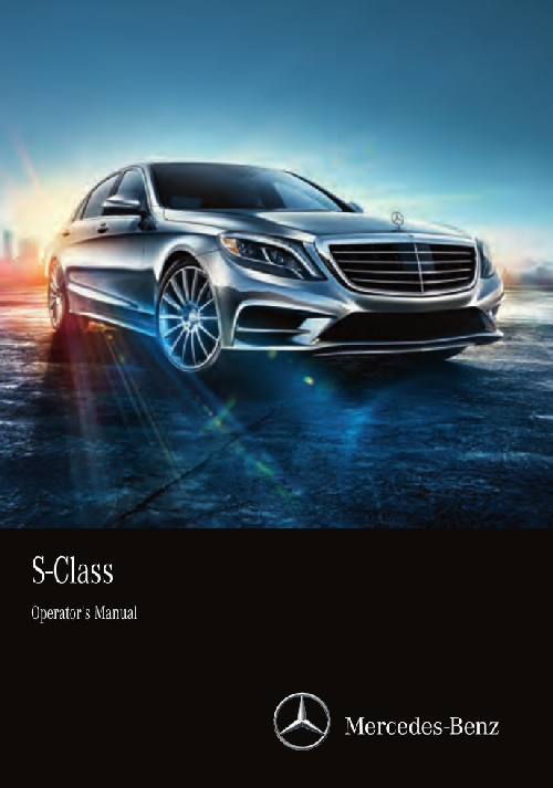 Mercedes-Benz S-Class Sedan 2016 MY. Owner's Manual